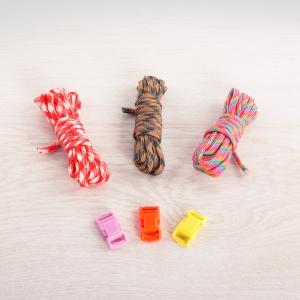 Набор Браслеты-веревочки, разноцветные