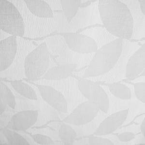 Ткань Тюль лен деворе Листья белый               (ш280см)