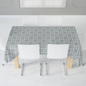 Скатерть габардин печать Kitchen 0136 серый 110*140
