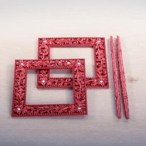 Заколка для штор Королевский сад, красная, 2шт