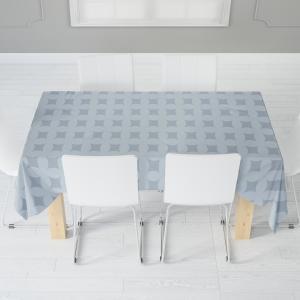 Скатерть габардин печать Kitchen 0052 серо-голубо 110*140