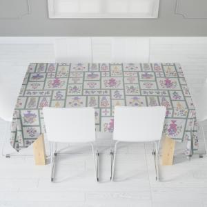 Скатерть габардин печать Kitchen 0138 бежевый 110*140