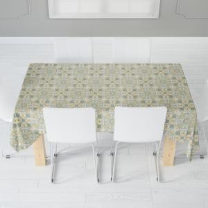 Скатерть габардин печать Kitchen 0135 зеленый 110*140