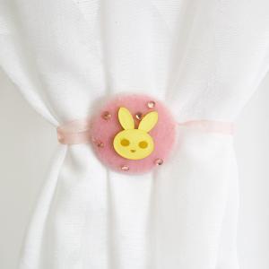 Зайка-Пушистик - розовый подхват-магнит (2шт)