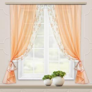 Комплект штор для кухни Арина персик