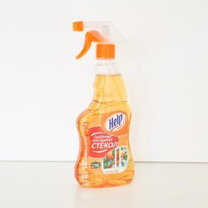 """Средство для мытья стекол """"Help"""" Апельсин 0,5 л с распылителем"""