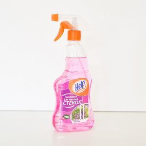 """Средство для мытья стекол """"Help"""" Аромат весны 0,5 л с распылителем"""